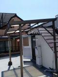 「屋上物干しの屋根(ポリカ波板)の付け替え」についての画像