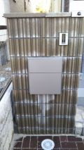 「新築戸建住宅の門柱に表札の取り付けをお願いしたい」についての画像