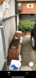 「花壇解体、抜根、水道管の移動」についての画像