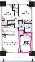 「和室をフローリングにして、2部屋に分けたい」についての画像