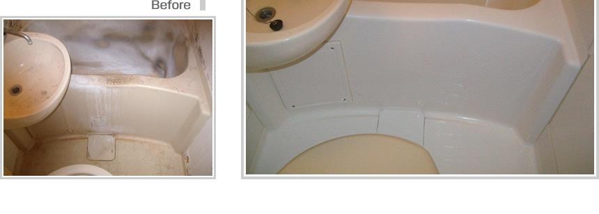 :notitle:賃貸マンション浴室塗装の事例写真