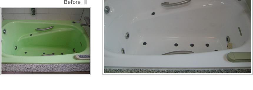 :notitle:ジャグジータイプの浴室塗装の事例写真