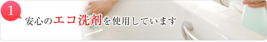 :notitle:安心のエコ洗剤を使用しています