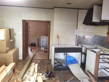 ダイニングキッチン内装解体工事