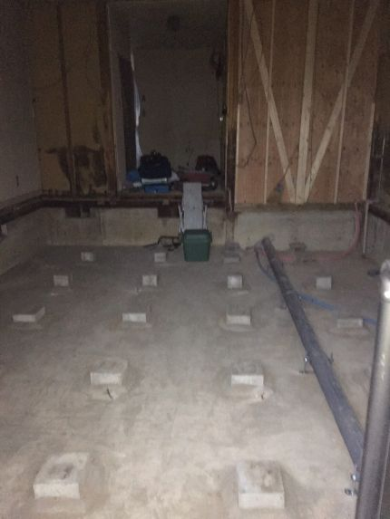 ダイニングキッチン内装解体工事終了後