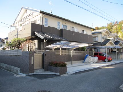 広島市A様邸2世帯用新築外構工事