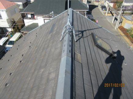屋根施工前上から