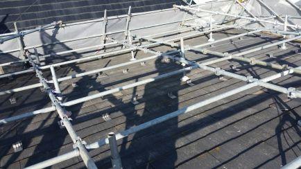 屋根足場施工