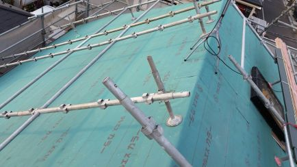 防水シート施工後