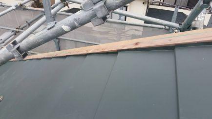 ケラバ貫板施工