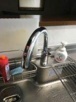 キッチン、ガスコンロ、センサー式水栓、タッチ水栓、