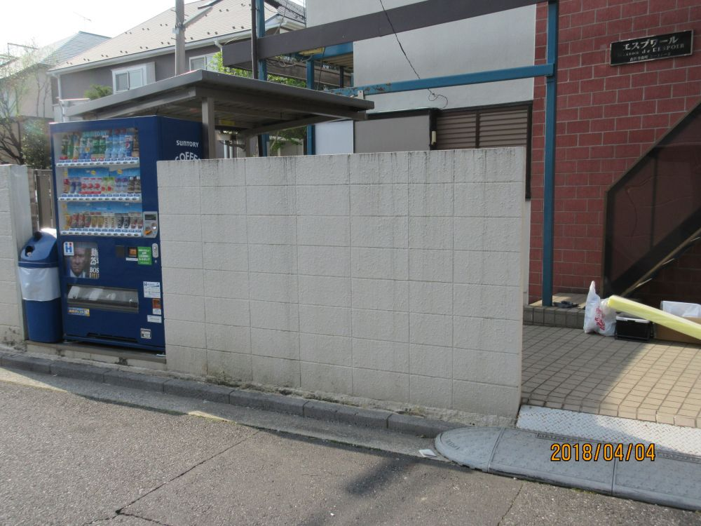 ブロック塀左側施工前