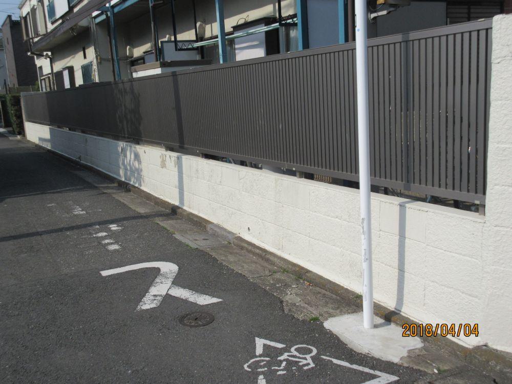 ブロック塀東側施工前
