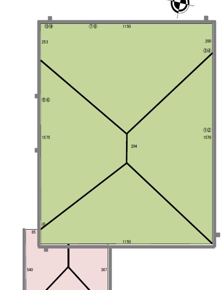 屋根の図面