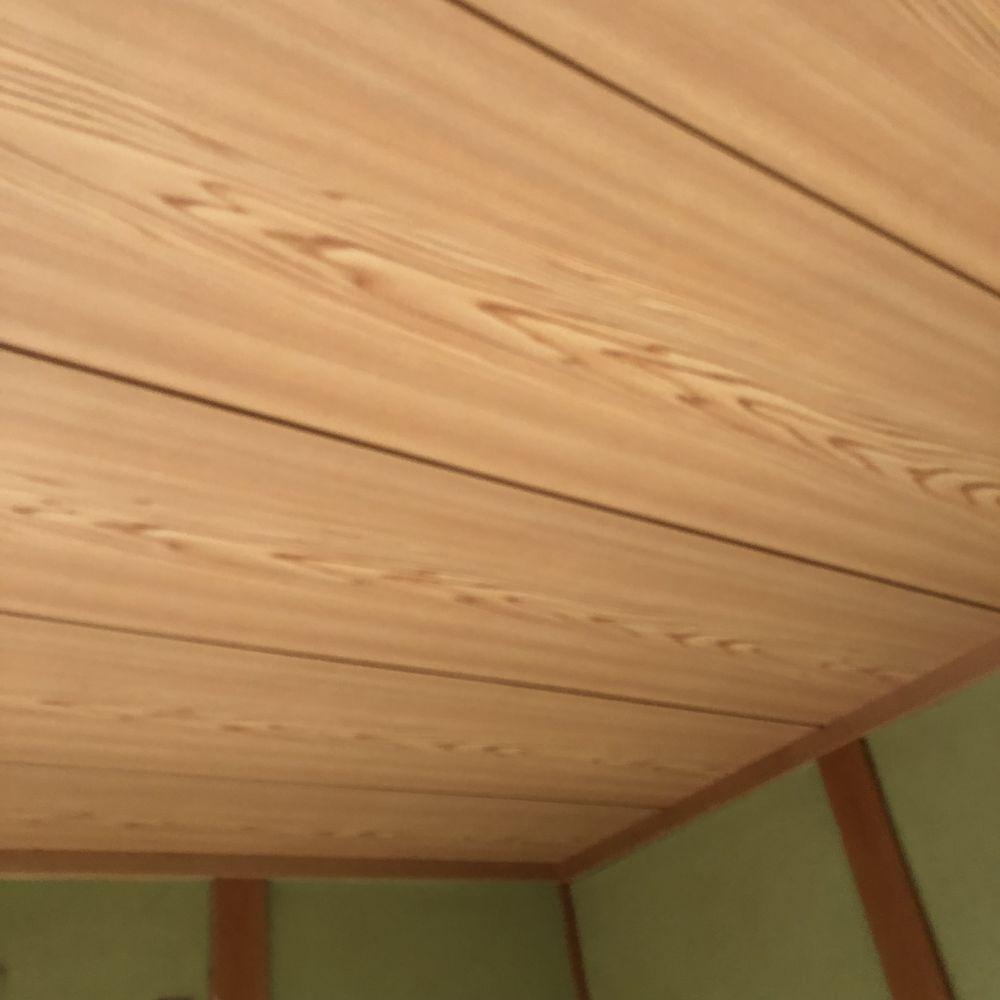 和室の天井 化粧板 をクロスに 大阪府 豊中市 リフォームのこと