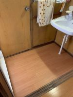 浴室ドア交換・浴室入り口床改修・脱衣所床改修