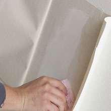 壁紙クロス+石膏ボードの壁穴修理・修復(部分張替え)【20cm四方まで】