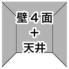 壁4面+天井