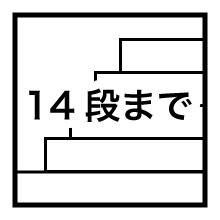14段まで